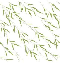 seamless pattern of bamboo leaves vector image