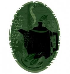 tea concept design vector image vector image