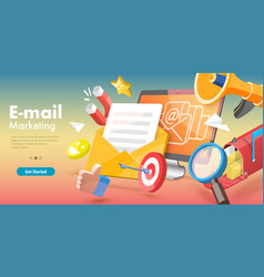 3d conceptual email vector image