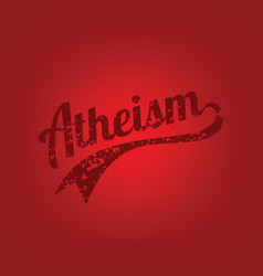 Atheism theme - against religious ignorance vector
