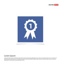 Award icon - blue photo frame vector