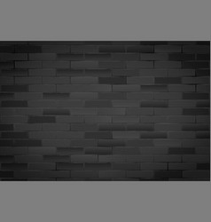 black brick wall texture closeup vector image