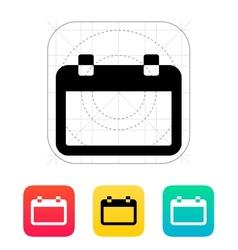 Blank calendar icon vector image