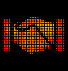 Bright pixel acquisition handshake icon vector