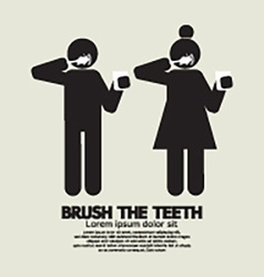 Brushes The Teeth Black Symbol Graphic vector