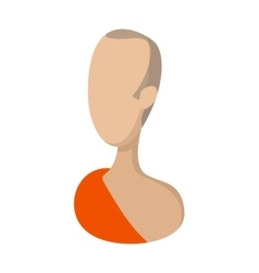 Buddhist monk cartoon icon vector image