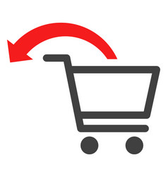 Cancel shopping order flat icon symbol vector