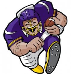 cartoon football running vector image