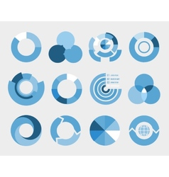 Circle diagram elements vector