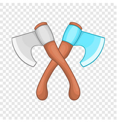 Crossed axes icon in cartoon style vector