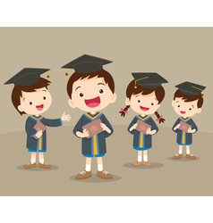 cute graduation students vector image