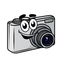 Cute little cartoon compact camera vector image