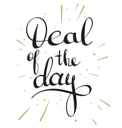 Deal of the day lettering tag vector image