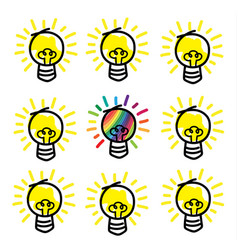 different idea concept vector image