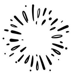 doodle design element starburst doodle vector image