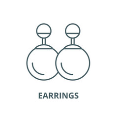 earrings line icon linear concept outline vector image