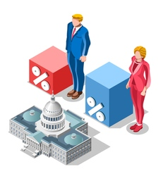 Election Infographic Pools Congress Isometric vector