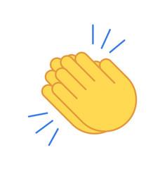 emoji clap hand emoticon set encouragement cartoon vector image