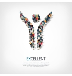 Excellent people crowd vector