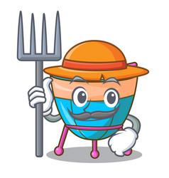 Farmer character cartoon percussion musical vector