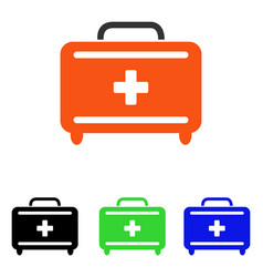 first aid toolkit flat icon vector image