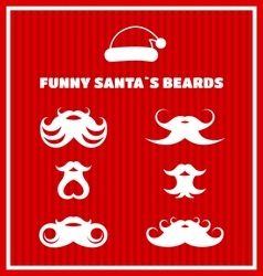 Funny beards of Santa Claus vector