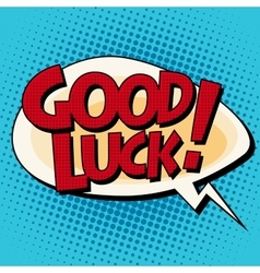 Good luck comic strip text vector