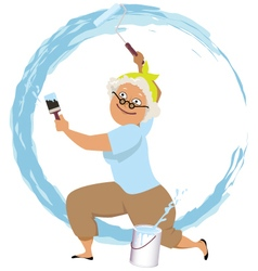 Granny painter vector image