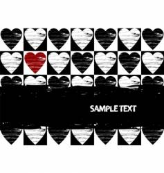 grunge red hearts vector image vector image