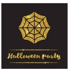 Halloween gold textured web icon vector image