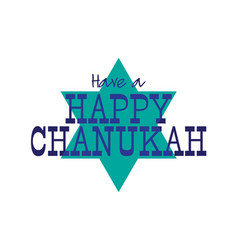 Happy chanukah graphic with star vector