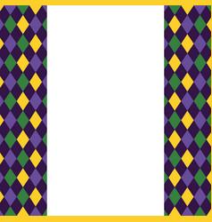 harlequin pattern frame vector image