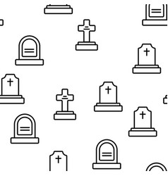 Headstone gravestone tombstone seamless vector