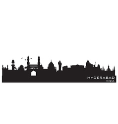 Hyderabad India skyline Detailed silhouette vector image