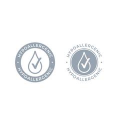 Hypoallergenic tested logo icon drop vector