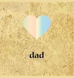 Icon heart dad vector