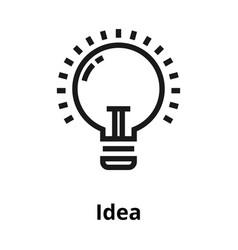 idea thin line icon vector image