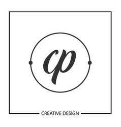 Initial letter cp logo template design vector
