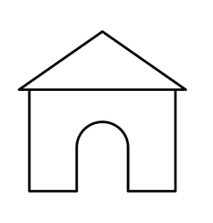 Isolated house and home building design vector