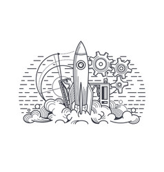 launch project vector image