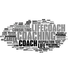 Lifecoach word cloud concept vector