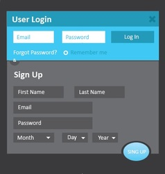 Login and sign up 2 vector