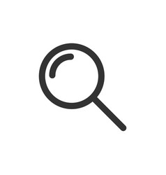 loupe sign icon in flat style magnifier on white vector image