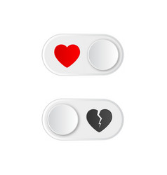 Love glossy round buttons vector