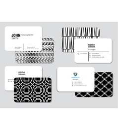 Modern simple business card template illus vector image
