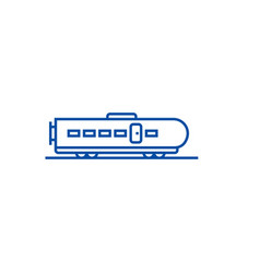 modern train line icon concept modern train flat vector image