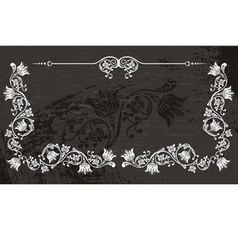 Nice floral frame vector image