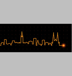ottawa light streak skyline vector image