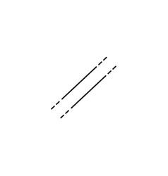 parallel line icon vector image
