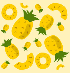 pineapple pattern background vector image